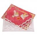 Приглашение на свадьбу в конверте с голубями