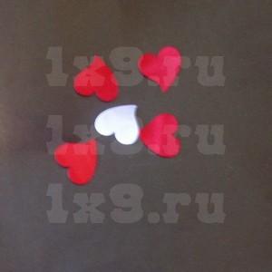 Сердечки из ткани, уп.50шт.