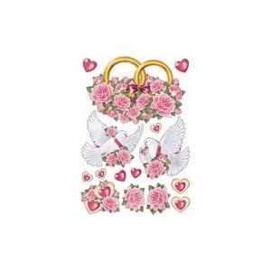 Набор украшений на скотче для свадьбы - 012