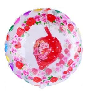 """Шар фольгированный """"Любовь"""", сердце с цветами"""