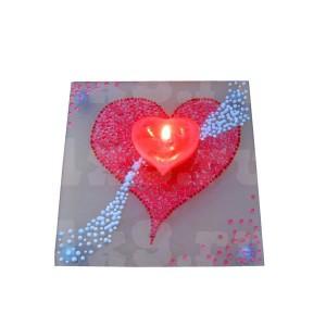 Подсвечник - 05, сердце на стекле