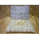 Подушка для колец, прямоугольная, с кружевом