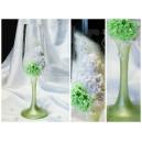Бокалы - 138, серия-9, бело-зеленые, пара