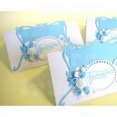 Приглашение на свадьбу - 010, бело-голубые, уп. 10шт.
