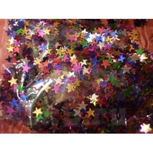 Конфетти - 019, звезды малые, ассорти