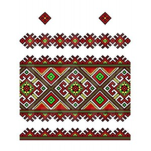 Рушник орнамент - 074, габардин, 1.5м