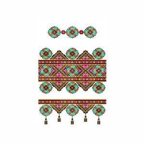 Рушник орнамент - 077, габардин, 1.5м