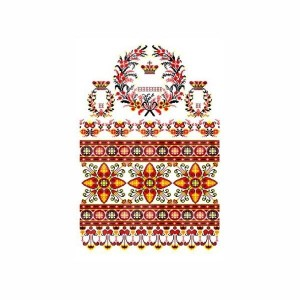 Рушник орнамент - 080, габардин, 1.5м