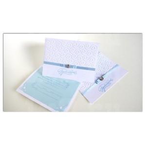 Приглашение на свадьбу - 012, бело-голубые, уп. 10шт.