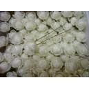 Цветок на шпильке, роза малая с напылением