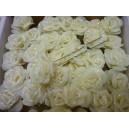 Цветок на шпильке, роза большая с напылением