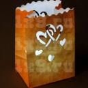 """Пакет светящийся """"Двойное сердце"""", 26x15см"""