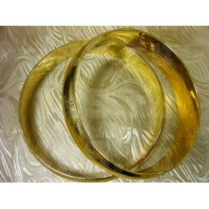 Кольца на авто, пара, плоские, фольга, золото