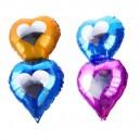 Шар фольгированный, двойной, сердце, микс